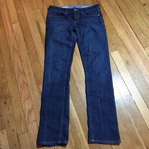 Gap 1969 Dark Wash Real Straight Jeans 4r